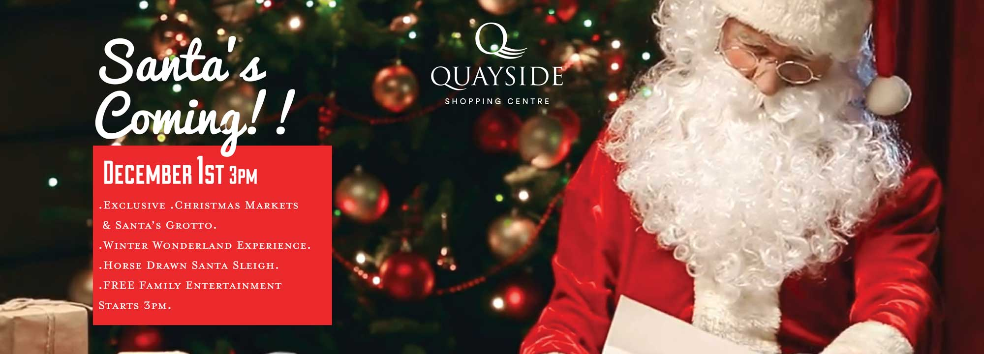 Santa's coming! 1st December, 3pm