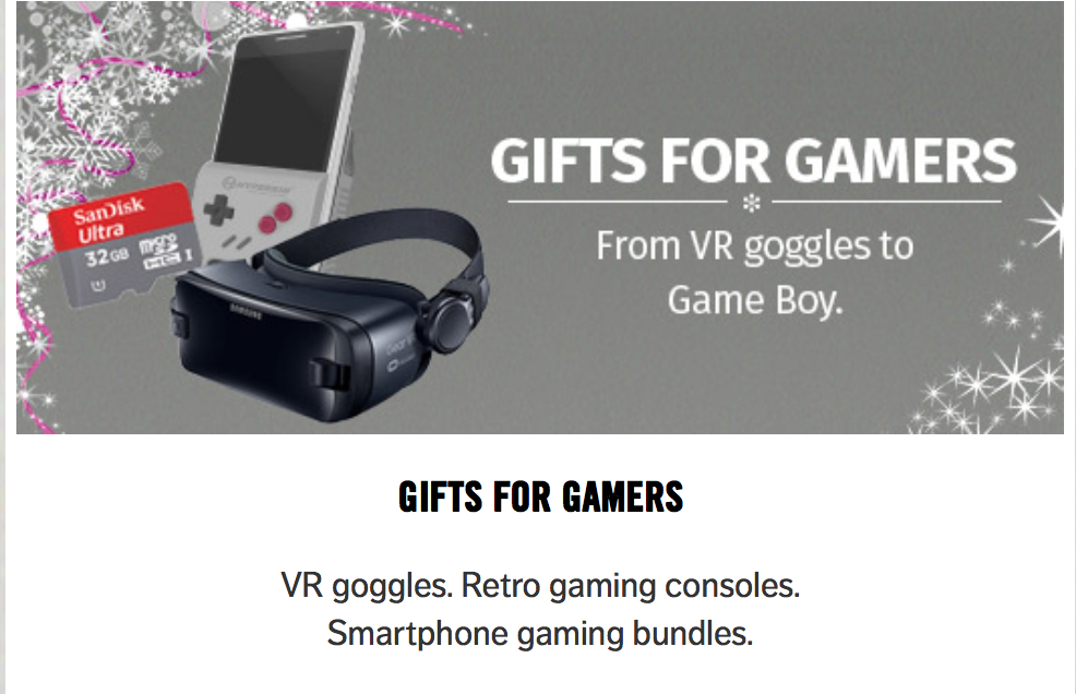 Gifts for him from Carphone Warehouse Quayside