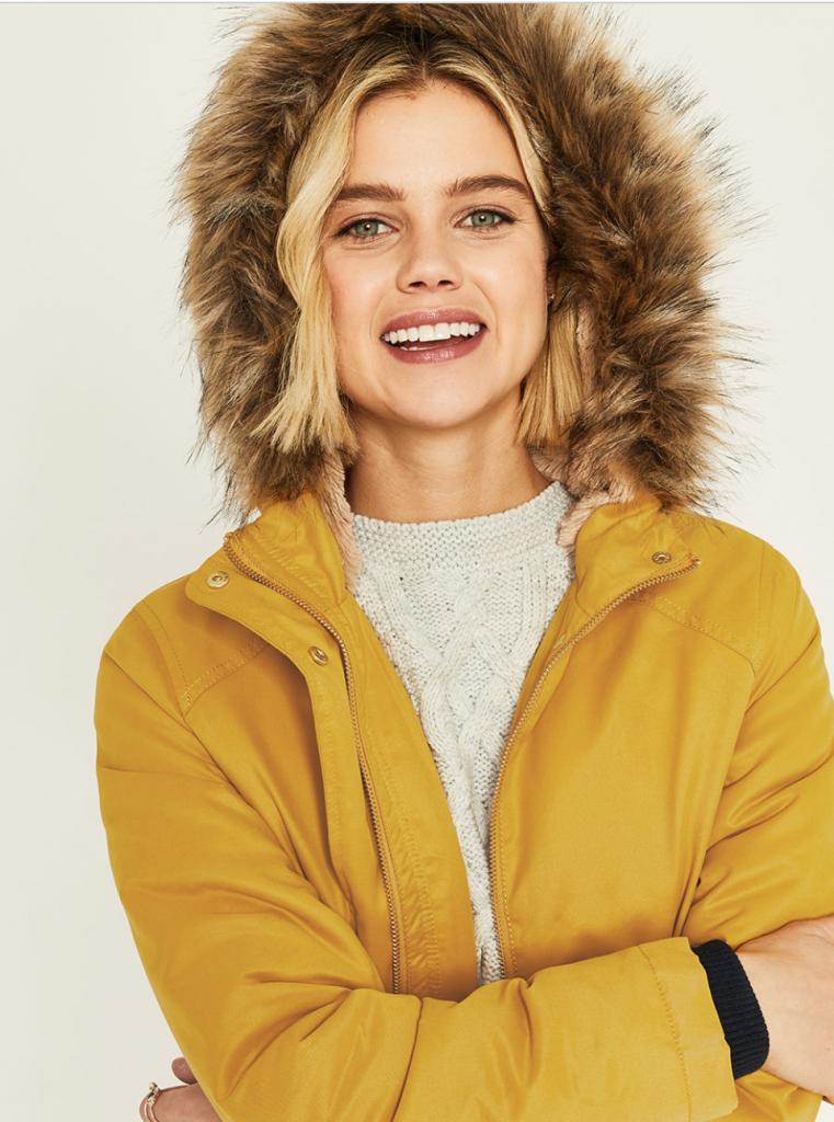 Add some sunshine with this yellow parka from Oasis