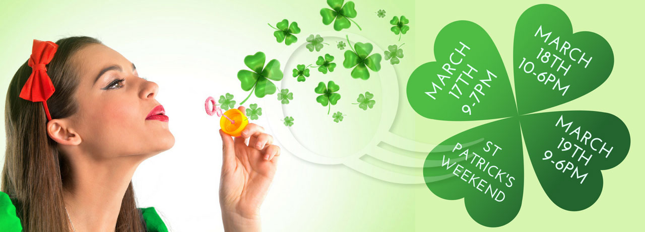 St. Patrick's weekend opening times