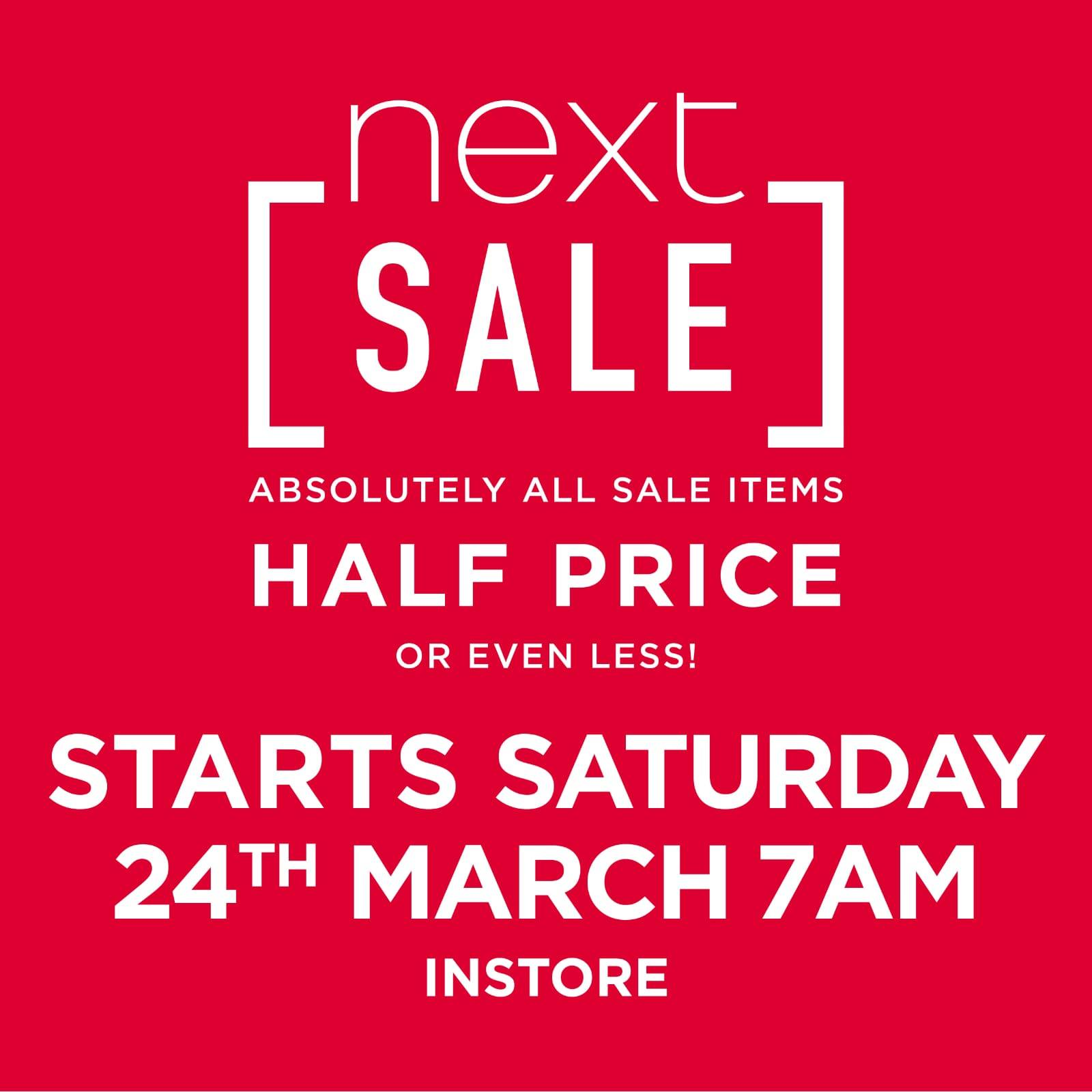 edcdd436093ca The Next sale Sligo 1/2 price midseason sale starts this Saturday morning  March 24th at Quayside at 7am! All sale items half price or less!