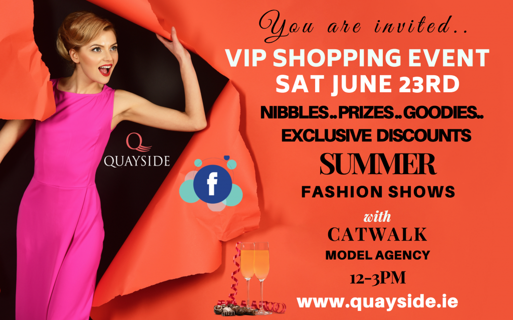 Catwalk modelling agency at Quayside