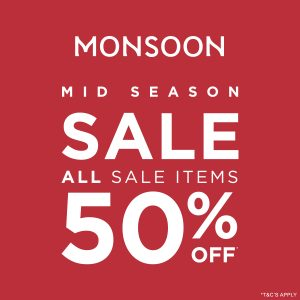 Monsoon 50% OFF Summer sale
