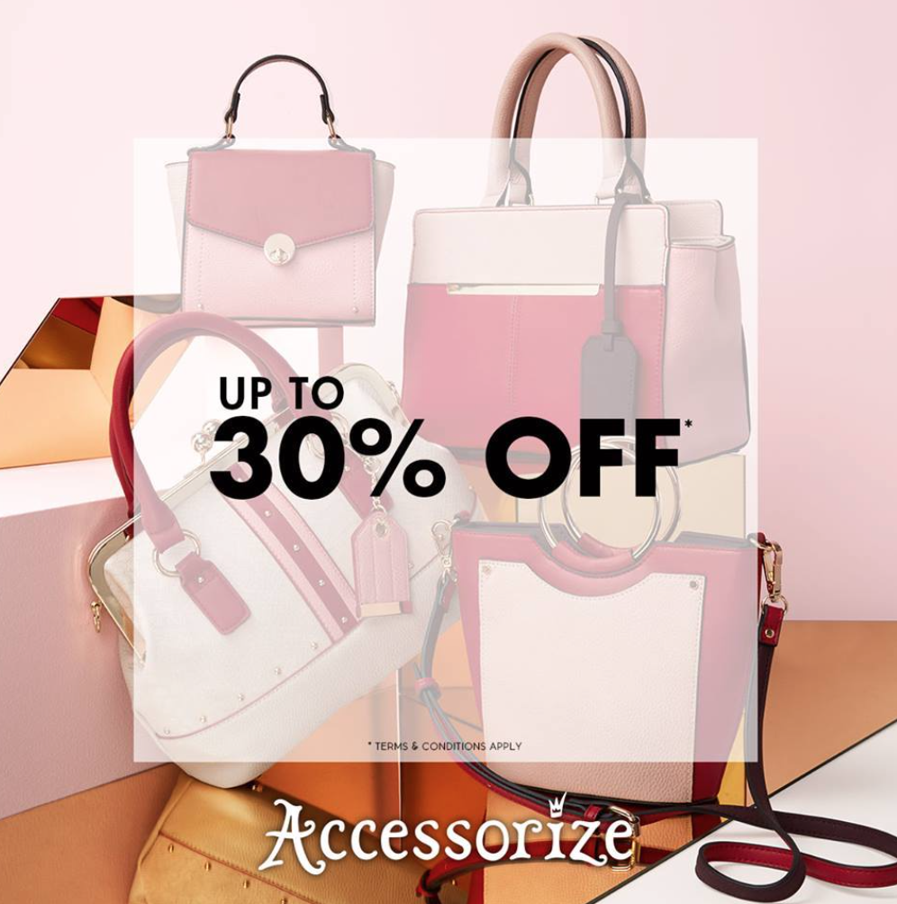 30% OFF selected bags at Accessorise