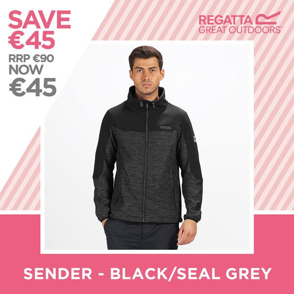 Regatta - Save €45 - Sender Black/Seal Grey