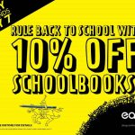 Rule back to school with 10% off school books.
